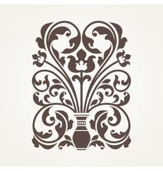 Ornamental floral element for design vector image