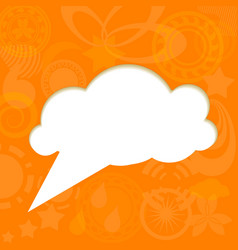 Paper cloud on funky background vector