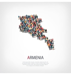 People map country armenia vector