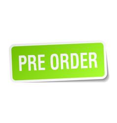 Pre order square sticker on white vector