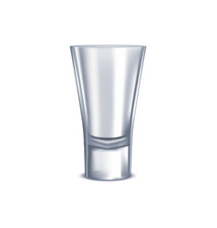 realistic detailed 3d shot glass isolated on a vector image