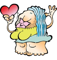 Romantic woman RGB vector