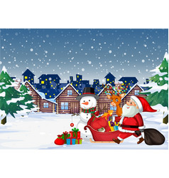 Santa coming to town vector