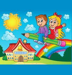 School kids theme image 7 vector