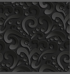 seamless 3d pattern with abstract flourish design vector image