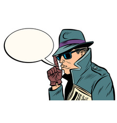 secret agent finger gun gesture vector image