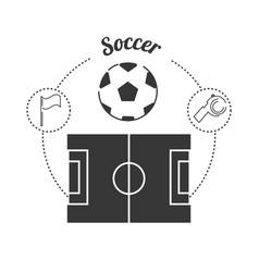 set concept icon soccer sport vector image