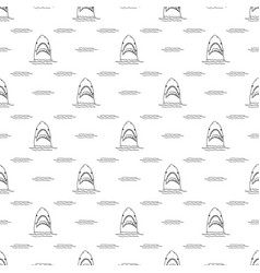 Shark seamless pattern hand drawn sketched doodle vector