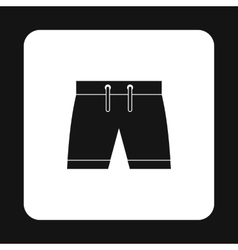 Shorts for swimming icon simple style vector image