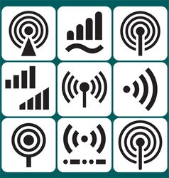 Signal icons set vector