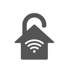 Smart home iot protection concept house in the vector