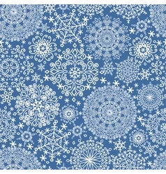 Snowflakes seamless patternWinter lace vector image