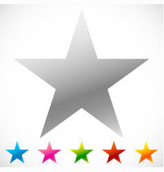 star icon with thin outline makes it pop out 6 vector image