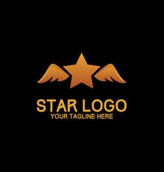 Start logo design modern concept art orange vector
