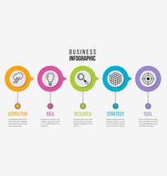 step infographic process business diagram vector image