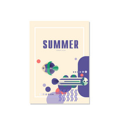 summer banner template trendy seasonal background vector image