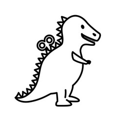 t-rex dinosaur toy icon vector image