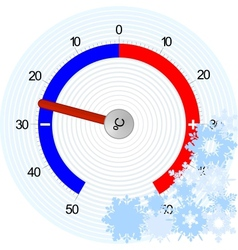 Thermometer Winter vector image