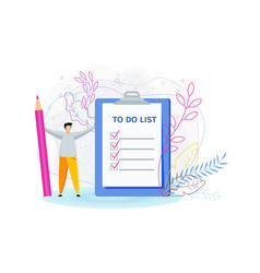 To do list concept daily routine and planning vector