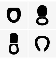 Toilet seats vector image