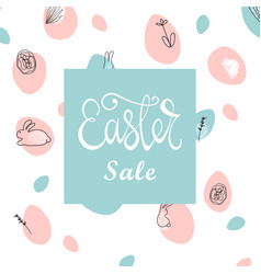 Trendy easter sale banner unique design vector