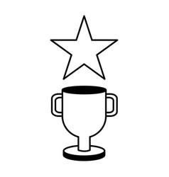 trophy star winner video game vector image