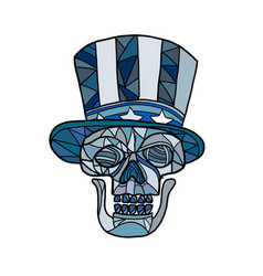Uncle sam skull mosaic vector