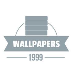 Wallpaper logo gray monochrome style vector