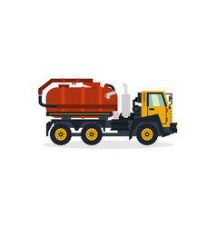 Water transport commercial vehicles service vector