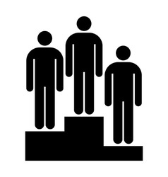Winners on pedestal vector image