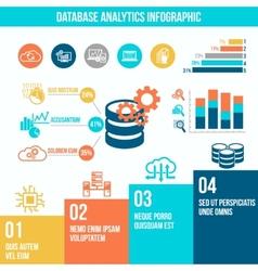 Database analytics infographics vector image