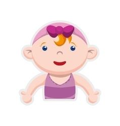 Girl cartoon icon Baby concept graphic vector image