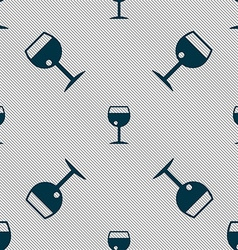 glass of wine icon sign Seamless pattern with vector image