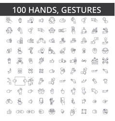 hand gesture touch finger palm handshaking vector image vector image