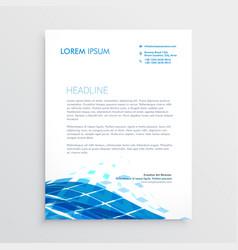 Modern letterhead template design with blue vector
