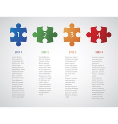 Infographic puzzle vector image vector image