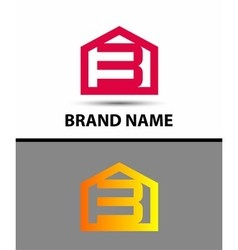 Number 3 logo logotype design with house vector image vector image