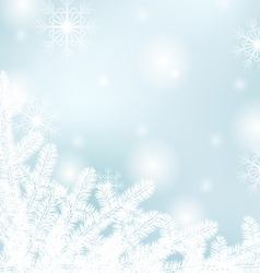 Winter text frame vector image vector image