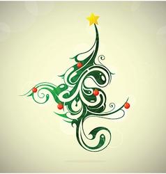 Artistic Christmas tree vector image