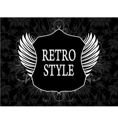retro label with shield vector image vector image