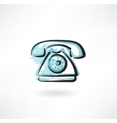 telephone grunge icon vector image