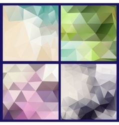 Colorful mosaic banners vector image