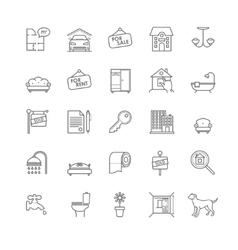 house and real estate icons set vector image vector image