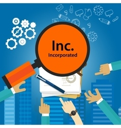 Inc incorporated Types of business corporation vector image