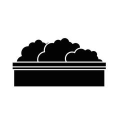 isolated bush cartoon vector image