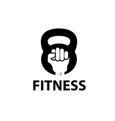 logo fitness vector image vector image
