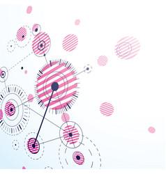 3d bauhaus abstract magenta background made vector