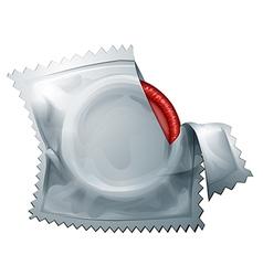 A red condom vector
