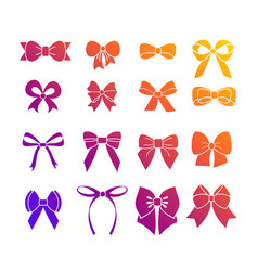 a set of vivid colors vector image