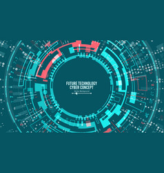Abstract futuristic technological background vector